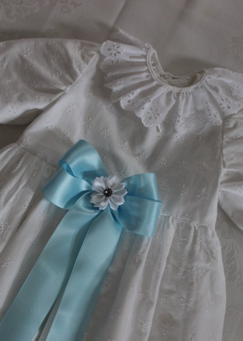 Lyseblått Dåpsbånd