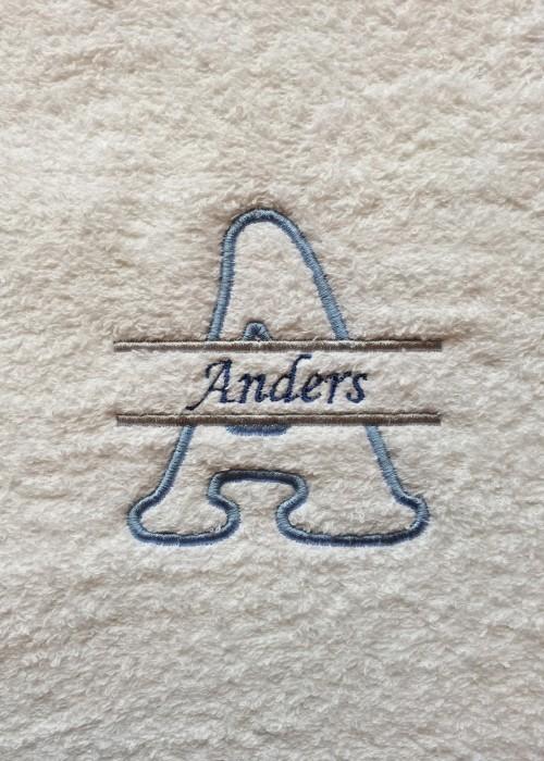 Bokstav Monogram - Blå 1