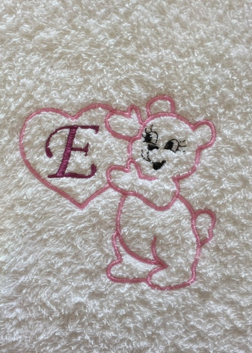 Teddy Monogram - Rosa