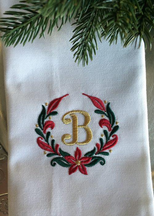 Serviett - Jul - Christmas Wreath