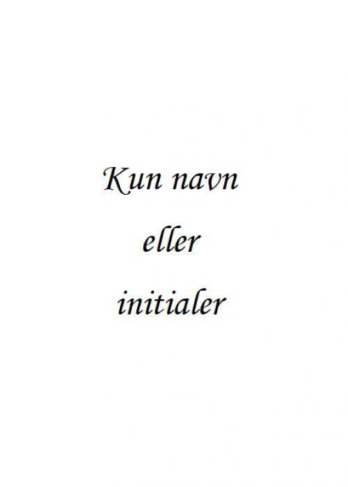 Navn - Initialer